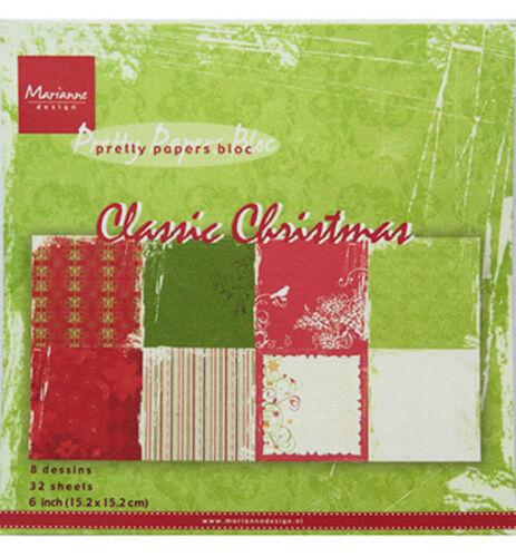 pk9113 Design motivo de papel-Classic Christmas por Marianne Design