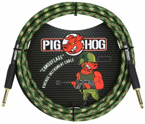 Pig Hog PCH10CF CAMOUFLAGE Instrument Cable 1//4/' to 1//4/' 10ft LIFETIME WARRANTY!