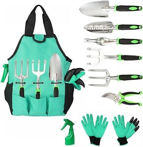 Garden Tools Set 10 Pieces, Gardening Kit with Heavy Duty