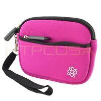 Small Pink Digital Camera Case Cover For Panasonic Lumix Dmc-fh24 Dmc-fh25k