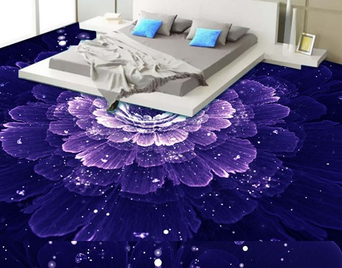 3D Elegant lila Floral 72 Floor WallPaper Murals Wall Print Decal AJ WALLPAPER