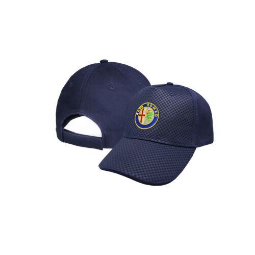 Alfa Romeo CARBON Baseball Cap Embroidered Auto Adjustable Hat Gift Mens Womens