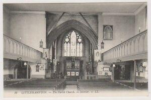 Sussex-West-postcard-Littlehampton-Parish-Church-interior-LL-No-16-A80