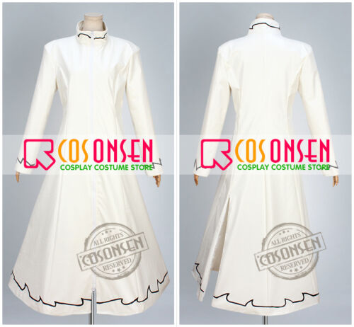 Cosonsen Tokyo Ghoul Tatara Cosplay Costume White Long Coat With Mask All Size