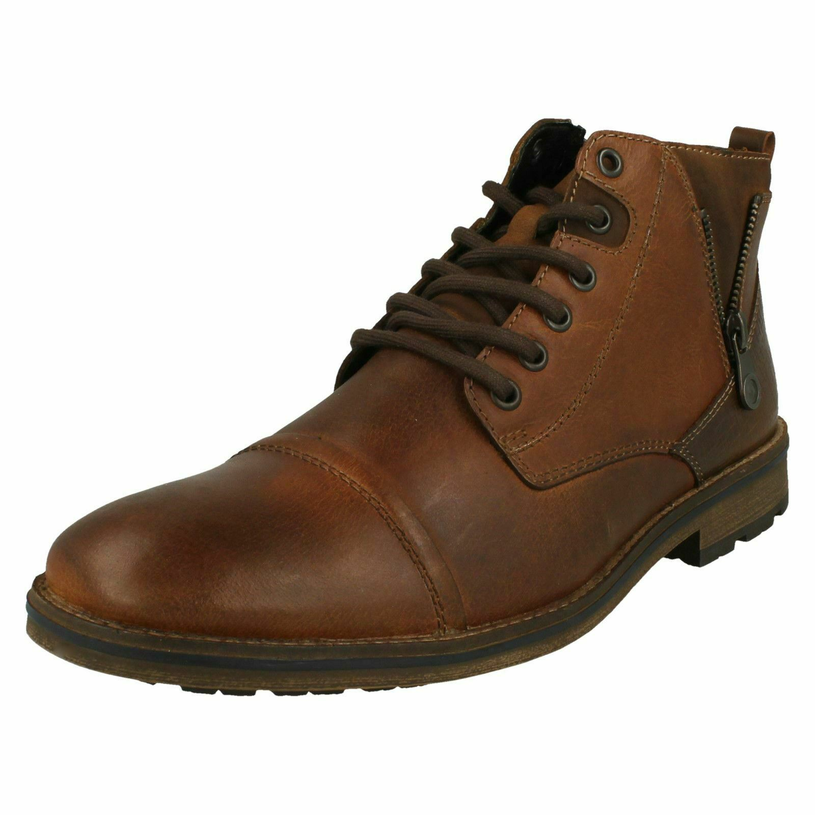 Rieker Mens Lace Up Detailed Ankle Stiefel - F5512