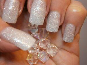 Fine glitter dust bling sparkly snow white nail art 4 gelnatural image is loading fine glitter dust bling sparkly snow white nail prinsesfo Images