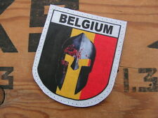 SNAKE PATCH - BLASON BELGIUM SPARTAN - ABL Belgique Belge para codo croisade