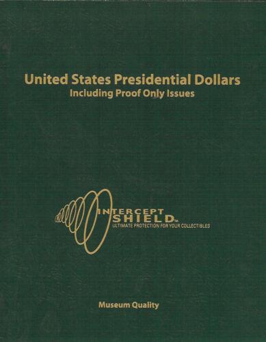Intercept Shield USA Coin Album Presidential Dollars hold Proofs 2007  Slipcase