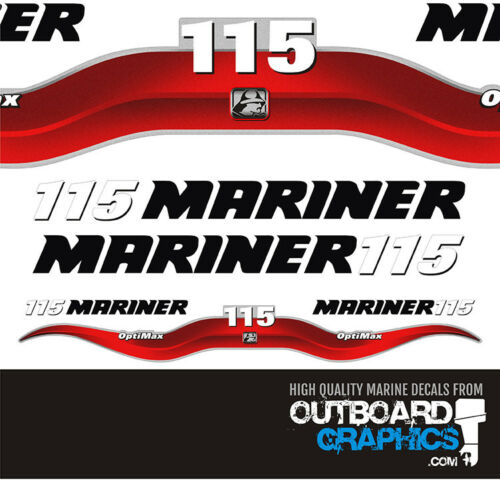 Mariner 115hp Optimax outboard decals//sticker kit
