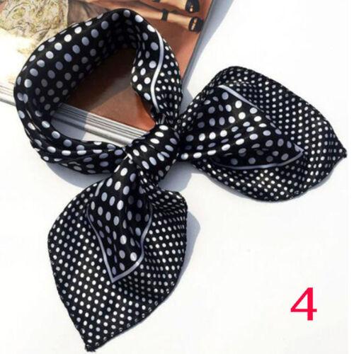 High Kerchief Soft Head Bandanas Shawl Wrap Stylish Satin Silk Scarf Square