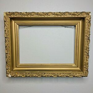 Antique-Gold-Gilt-Gesso-And-Wood-Old-Picture-Frame-9-5-034-x-13-034