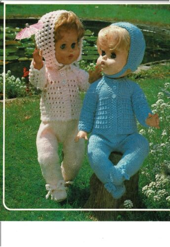 "V Doll 189 Laminated copy. Dolls knitting  pattern to fit 18 and 20/"" doll"