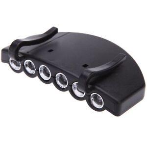 1X-6-Clip-Sul-LED-lampada-clip-berretto-lampada-berretto-All-039-aperto-Pesca-HK