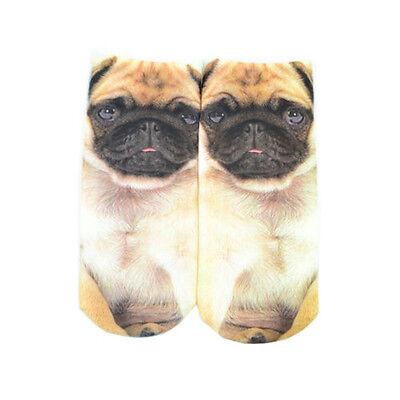 1 Pair Casual Women Fashion Low Cut Ankle Socks Cotton 3D Printed  Cartoon M2