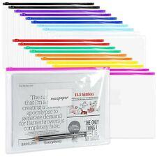Labuk 35 Pack Poly Zip Envelopes A4 Size Plastic Envelopes File Folder With
