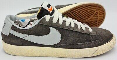 Nike Blazer Low Premium Vintage Suede Trainers 538402-001 Grey UK7 ...