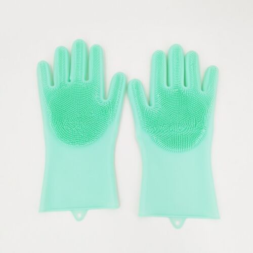Dishwashing Cleaning Gloves Silicone Rubber for Household Scrubber Kitchen Clean