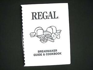 Regal bread maker instruction manuals and recipes | thriftyfun.