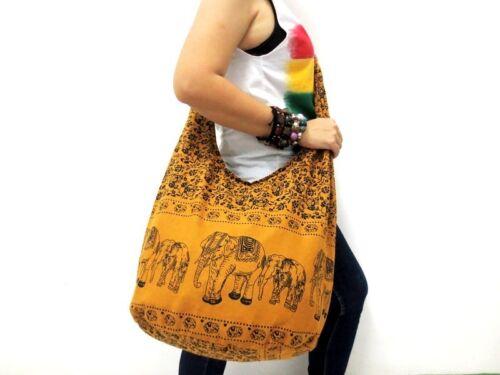 NEW UNISEX HOBO HIPPIE SHOULDER BAG SLING TRIP ELEPHANT THAI TRAVEL BOHO SCHOOL