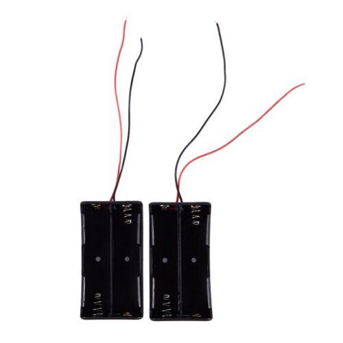 2 Stk. Schwarz 2 x 18650 3.7V Batteriehalter Kasten Box mit Leitungsdrah K8S8 5X