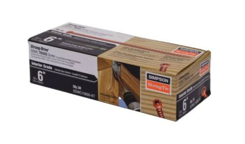 """50 per Package Simpson Strong Tie SDWC15600KT 6/"""" Truss Screw Kit"""