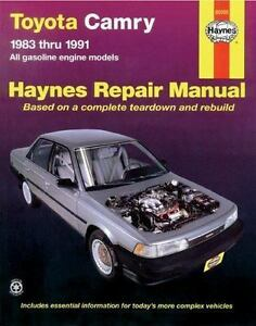 haynes manuals toyota camry 1983 1991 no 1023 by john haynes and rh ebay com 1989 toyota camry repair manual pdf 1989 toyota camry manual pdf