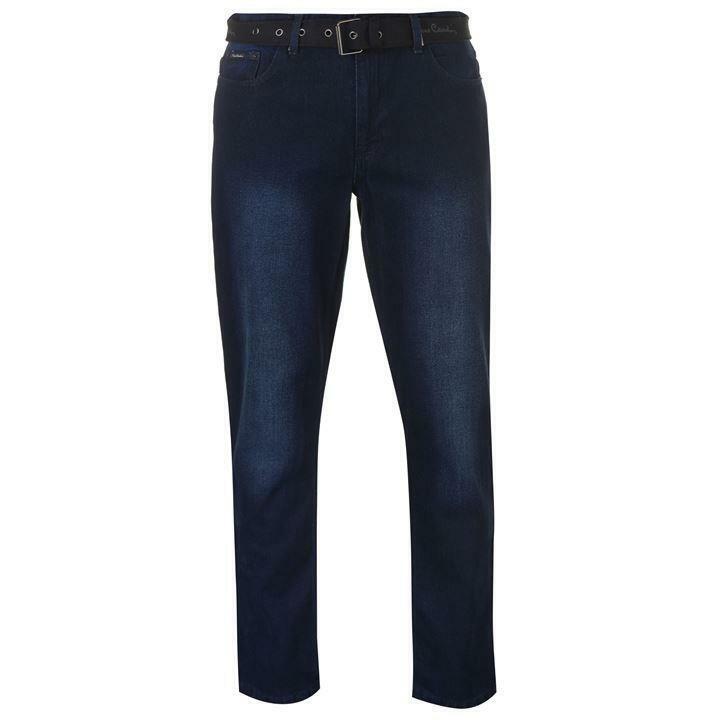 Agressif Pierre Cardin Web Ceinture Homme Jeans Dark Wash Ceinture Noire Jeans Uk 30 L Ni Trop Dur Ni Trop Mou