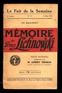 MEMOIRE-DU-PRINCE-LICHNOWSKI-1918