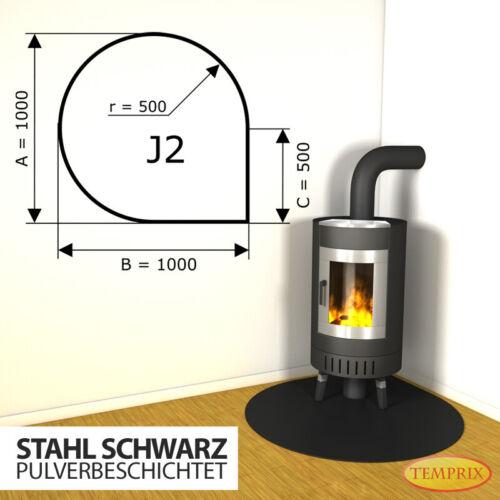 J2 Kamin Bodenplatte Funkenschutz Kaminplatte Stahl schw Ofen Platte Ofenblech