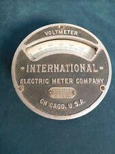 Antique International Electric Voltmeter 1906 Iron Rare