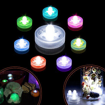 20 RGB SUPER Bright Dual LED Tea Light Submersible Floralyte Party Wedding