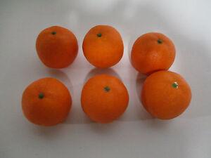 6 st ck k nstliche orangen wie echt theke deko obst gem se orange k nstlich neu ebay. Black Bedroom Furniture Sets. Home Design Ideas