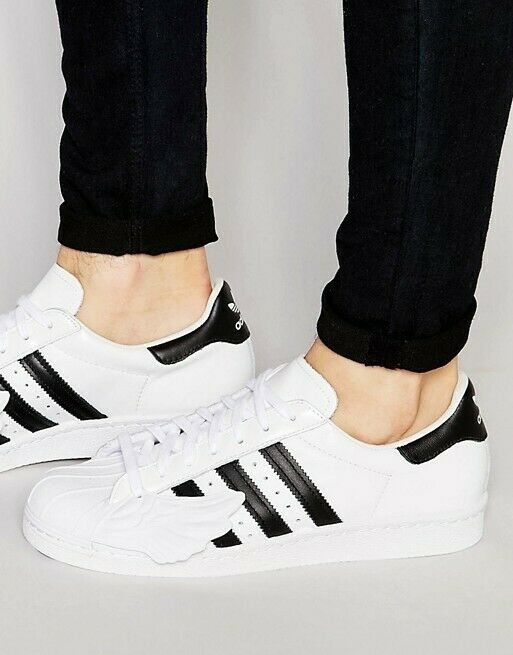 ADIDAS SUPERSTAR X JEREMY SCOTT WINGS TRAINERS  3 US 9.5 WHITE MENS