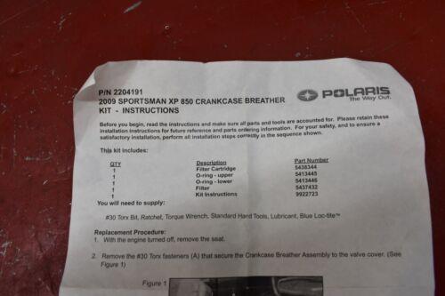 Polaris Kit Service Breather 850Xp 2204191 New OEM