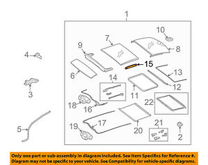 Mercedes GLK350 C300 Sun Roof Motor 2048200708