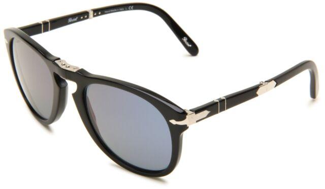 f89916b135 Persol Steve McQueen Sunglasses Po714sm 95 56 52mm Black   Blue Lens ...