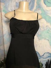 GUESS JEANS JUNIORS M SOLD BLACK TIE BACK SHARK-BITE HEM SLEEVELESS HALTER TOP