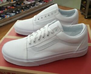 35b4fadfc7 VANS OLD SKOOL TRUE WHITE VN000D3HW00 MEN US SZ 6.5 ( WOMEN 8 ...