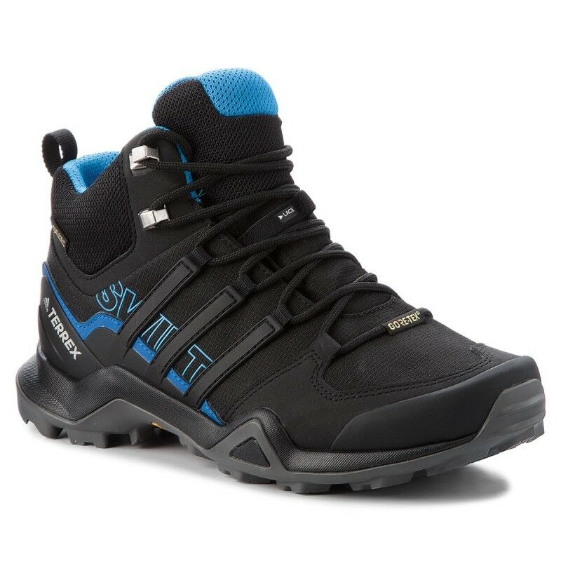 ADIDAS TERREX SWIFT R2 MID GTX AC7771 HERREN TREKKING OUTDOOR black blue 2018