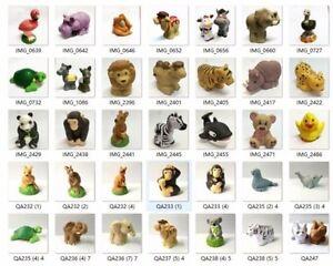 10Pcs//set Fisher-Price Little People Zoo Farm Animal Pet figure Random no repeat