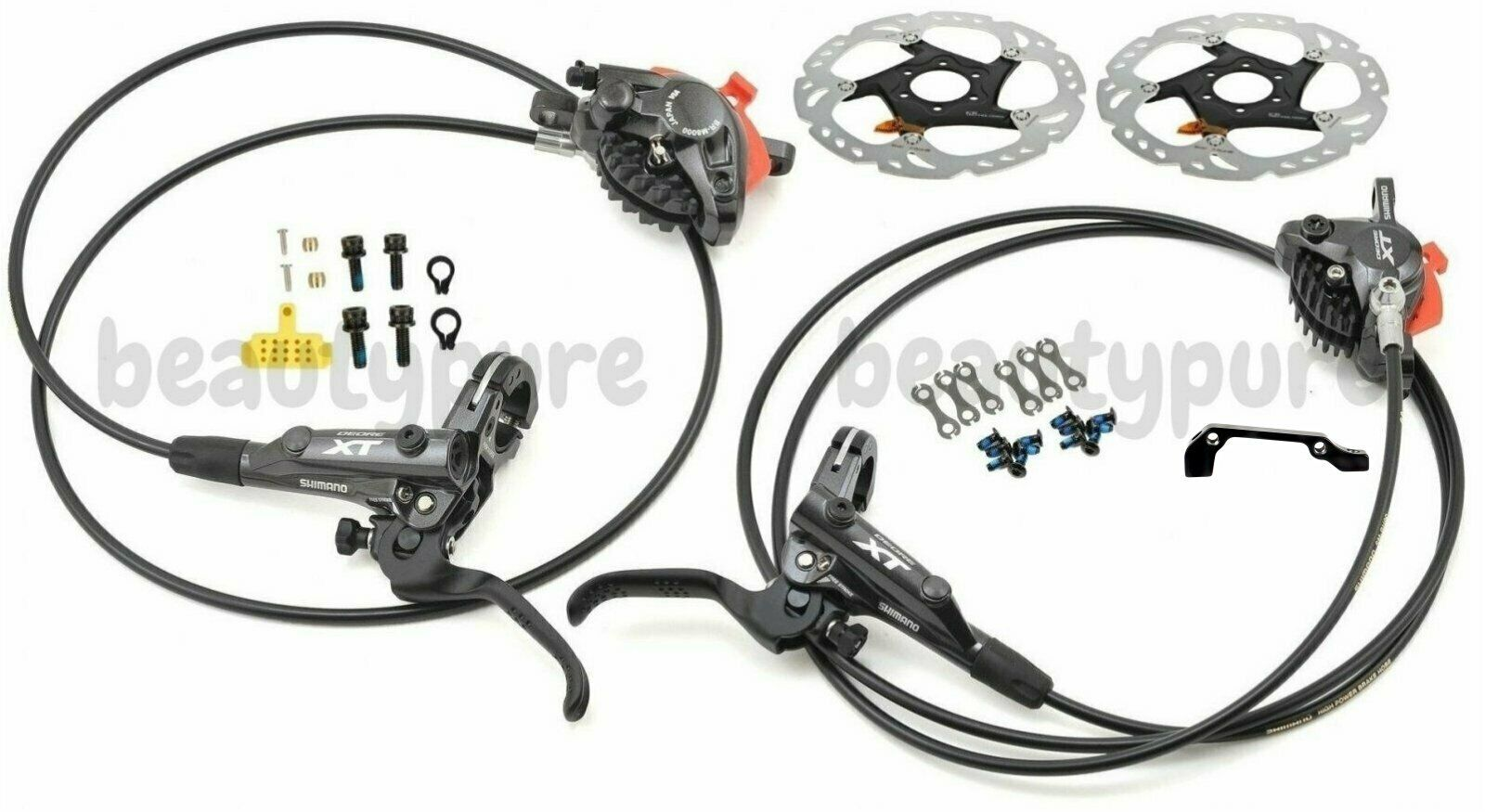Shimano XT M8000 Scheibenbremse Set 1000 1700mm W RT86 Rotoren 160mm