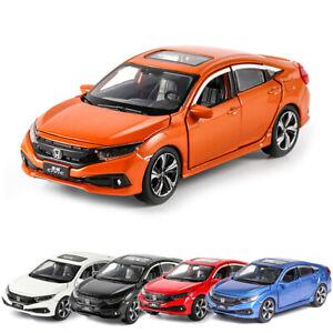 HONDA CIVIC modello IN SCALA 1/32 auto metal Diecast Regalo Giocattolo Veicolo Kids Collection