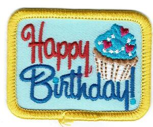 girl boy cub happy birthday blue fun patches crest badge