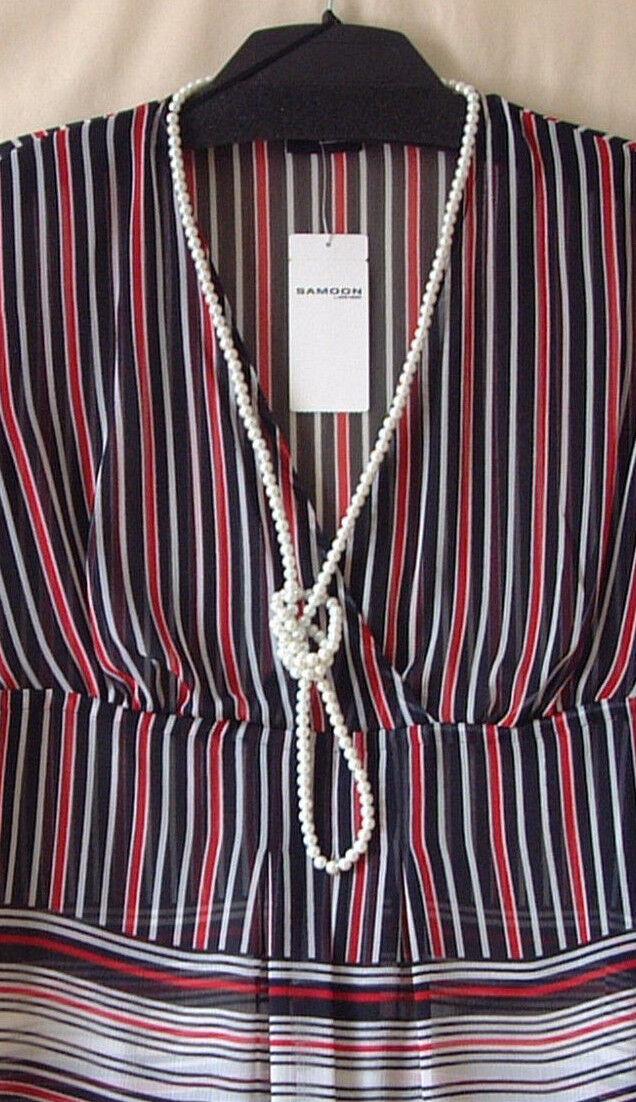 Samoon Tunika by Gerry Weber mit mit mit Kette leicht transparente LongBlause Damen Gr.44 | Hochwertige Materialien  72b2a3