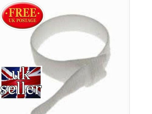VELCRO BRAND CABLE TIES ONE WRAP ® 20mm x 200mm WHITE CABLE  MANAGEMENT