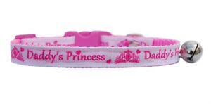 "handmade fabric bright pink  sparkle kitten safety collar  5/""-7/"" /& bell"