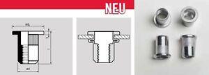 50-Stahl-Nietmuttern-nach-Wahl-M3-M4-M5-M6-M8-M10-M12-FK-ger-Blindnietmuttern