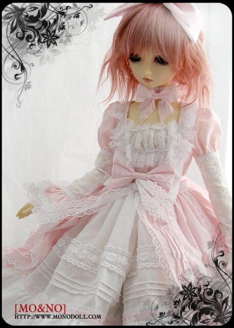 1/3 SD MSD DOD BJD dress skirt Suit Outfit lolita doll Dollfie LUTS Pink