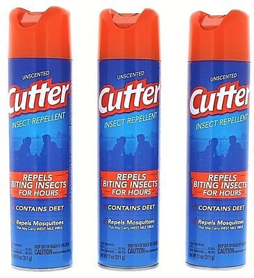 3 Cutter Mosquito Repellent Spray Repel Insect Bug Pest Camping