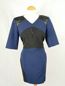 Ladies-Dress-Size-14-RIVER-ISLAND-Black-Blue-Mini-Smart-Party-Evening-Wedding